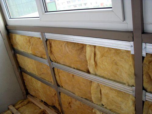 Утепление балкона и обрешетка