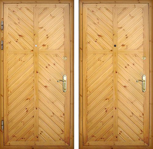 дверь входная из дерева обшитая стальным листом